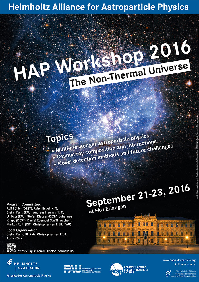 HAP-Workshop 2016, Topic 2: The Non-Thermal Universe