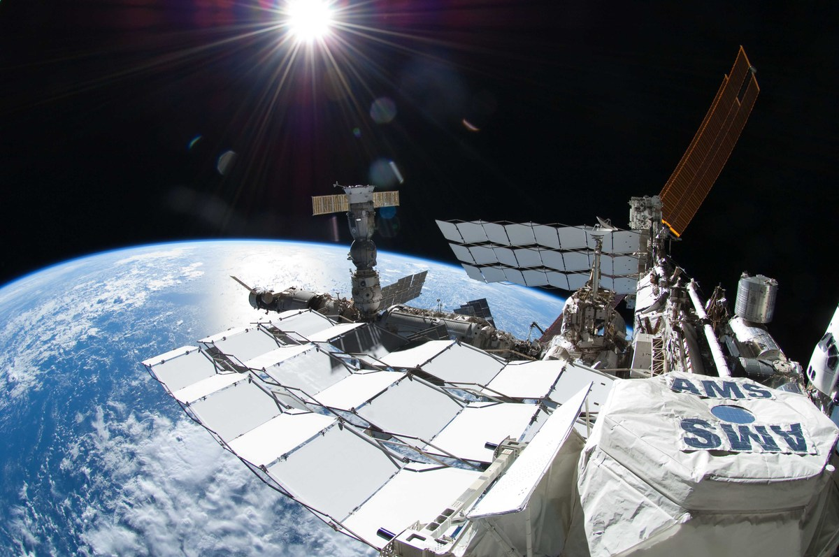AMS on the ISS (credit.NASA)