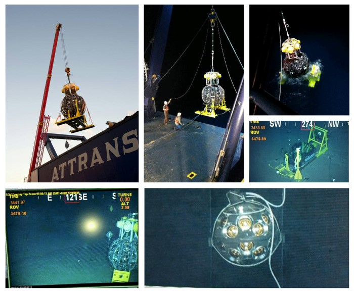 Pictures of KM3Net deployment